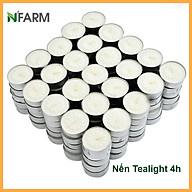 Hộp 100 Viên Nến Tealight Sáp Cọ N Farm An Toàn Sức Khỏe (4 giờ) Dùng kết hợp đèn xông và tinh dầu Khử mùi và đuổi côn trùng hiệu quả. thumbnail