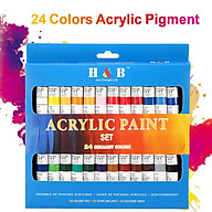 24 Colors Acrylic Paint Drawing Pigment Oil Painting Tube for Artists Beginners Adults Students Drawing Painting thumbnail