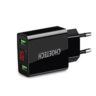 Cóc củ sạc nhanh 2 cổng USB Type A hiệu CHOETECH C0028 hỗ trợ sạc nhanh 5V-2.2A Port trang bị chip sạc thông minh, đèn LED báo điện áp - Hàng chính hãng thumbnail