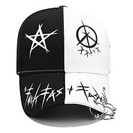 Nón Đuôi dài Mũ Lưỡi Trai Hàn Quốc dây dài Unisex Star khoen 2 màu trắng đen phillipStore thumbnail