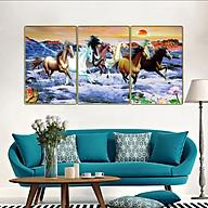 Bộ tranh treo tường 3 tấm- mã đáo thành công - Bát mã truy phong 1350L10 thumbnail
