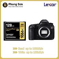 Thẻ nhớ CF Lexar 128GB Pro 1066X 160MB s - cho máy ảnh chuyên nghiệp, tốc độ cao (Đen, Vàng) - Hàng Chính Hãng thumbnail