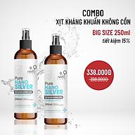COMBO Xịt kháng khuẩn không cồn Pure Nano Silver 250ml thumbnail