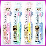 Combo 4 Bàn chải đánh răng trẻ em Curly Sue nhập khẩu Hàn Quốc (Dành cho bé từ 3 đến 8 tuổi) thumbnail