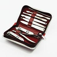 Bộ kềm chăm sóc móng 9 món chuyên dụng cắt tỉa cá nhân, làm nail, cắt móng tay kèm hộp đựng bằng da cao câos thumbnail
