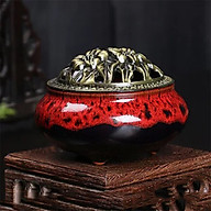 Lư xông trầm hương đỉnh đốt nhang gốm sứ thumbnail