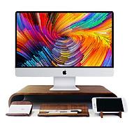 Combo Kệ Màn Hình và Desk Set - Màu Walnut thumbnail