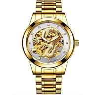 Đồng hồ cơ thời trang nam chạm rồng vàng nổi 3D thumbnail