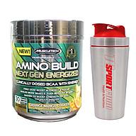 Combo BCAA Amino Build Next gen hương Orange Mango Cooler (Cam Xoài) của Muscle Tech hộp 30 lần dùng hỗ trợ phục hồi cơ, chống dị hóa cơ, tăng sức bền sức mạnh vượt trội, đốt mỡ, giảm cân, giảm mỡ bụng mạnh mẽ cho người tập thể thao & Bình lắc INOX 739ml (Mẫu ngẫu nhiên) thumbnail