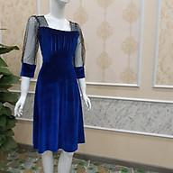 váy dự tiệc cao cấp vải nhung phối V3 thumbnail
