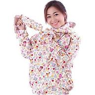 Áo chống nắng vải thô 2 lớp dáng ngắn nữ thumbnail