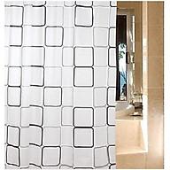 Màn rèm che cửa, nhà tắm chống thấm nước 180x 200cm+ Tặng kèm khoen, giao mẫu ngẫu nhiên thumbnail