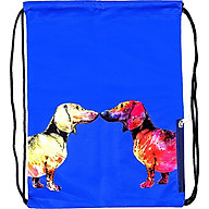 Túi Dây Rút XOX Backpack Dachshund Couple Blue thumbnail