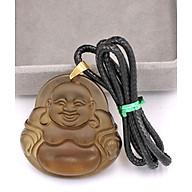 Dây chuyền mặt Phật Di Lặc - đá Obsidian ( 4.6cm x 4.8cm ) DEPDLN23 thumbnail