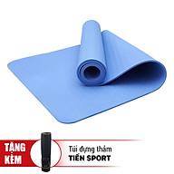 Thảm Tập Yoga Eco Friendly TPE Tặng Kèm Túi Đựng Thảm - Xanh Dương Nhạt (8mm) thumbnail
