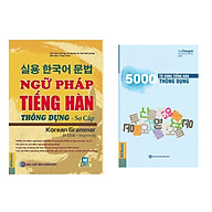 Combo Sách Học Tiếng Hàn Ngữ Pháp Tiếng Hàn Thông Dụng - Sơ Cấp (Dùng APP MCBooks) + 5000 Từ Vựng Tiếng Hàn Thông Dụng Sách Học Ngoại Ngữ Hay (Tặng Kèm Bookmark Thiết Kế Happy Life) thumbnail