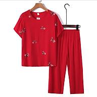 Bộ đồ trung niên nữ chất đũi đẹp B83 - Đồ bộ cho mẹ Quần áo thun kiểu thời trang mùa hè cho người lớn tuổi - Bộ ngủ trung tuổi U40 U50 U60 U70 mặc nhà Bigsize người mập giá rẻ thumbnail