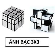 Đồ chơi ảo thuật Rubik phản chiếu ánh bạc 3x3 thumbnail