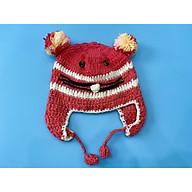 Mũ nón len cao cấp đan tay cho bé gái 1 - 2 tuổi - handmade thumbnail
