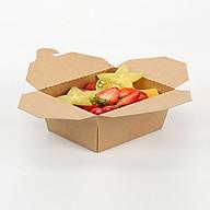 Combo 50 CÁI HỘP CƠM GIẤY MÀU NÂU KRAFT 1400ml - 175x140x63 mm - Đựng thực phẩm thumbnail