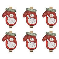 Bộ 6 Kẹp Ảnh Gỗ Trang Trí Giáng Sinh - Chiếc Tất Hình Người Tuyết thumbnail