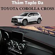 Thảm Taplo Da Vân Carbon Cao Cấp Cho Xe Ô Tô Toyota Corolla Cross - thảm da loại 1 thumbnail
