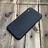 Ốp lưng siêu mỏng, vân carbon dành cho iPhone XR - Màu đen thumbnail