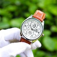 Đồng hồ nam dây da mặt tròn 6 kim CADN3051 phong cách Ý hiển thị 2 lịch ngày tháng Thiết kế sang trọng Lịch lãm Dễ dàng kết hợp trang phục thumbnail