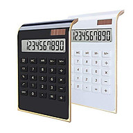 Desktop Calculator Ultra-thin 10 Digits Large LCD Display Solar Energy & Button Battery Dual Power Basic Counter for thumbnail