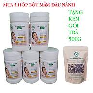 Combo 5 Hộp Bột Mầm Đậu Nành X5 Có Bổ Sung Collagen, Betaglucan (Tặng trà mầm ngũ cốc X5 -500gr) thumbnail