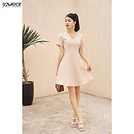 Đầm Váy Nữ Công Sở 92WEAR Thiết Kế Xòe Chàn Chỉ Cổ DEW0891 thumbnail