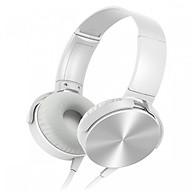 TAI NGHE NHẠC CHỤP TAI MRD-XB450AP âm thanh trầm cao cấp, thiết kế thời trang -tặng que chọt sim - màu ngẫu nhiên thumbnail