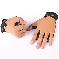 Găng tay hở ngón thể thao lái xe 206214 (kaki) thumbnail