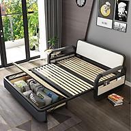 Giường sofa thông minh,giường sofa đa năng, khung thép chất lượng cao -Kích thước 1,6 x 1,9m. Bảo hành 5 năm thumbnail