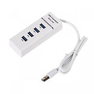 Bộ chia 4 cổng usb 3.0 USB 3.0 hub trắng thumbnail