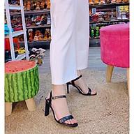 Giày cao gót 9 phân quai ngang gót dẹp LT (SD015) thumbnail
