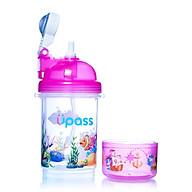 Bình nước cao cấp nắp bật có khay đựng kẹo Upass 400ml tặng đồ chơi Toys House (ngẫu nhiên) thumbnail