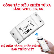 Công tắc wifi sử dụng phần mềm Smart life điều khiển thiết bị điện từ xa qua điện thoại qua mạng internet wifi, 3g, 4g thumbnail