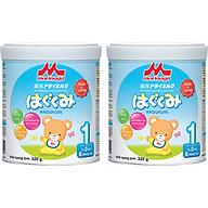 Combo 2 lon Sữa Morinaga số 1 (Hagukumi) 320g thumbnail