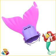 Chân vịt bơi cao cấp, chân bịt nàng tiên cá cho bé phối hợp với áo tắm nàng tiên cá màu hồng E81 thumbnail