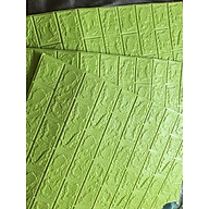 bộ 30 tấm xốp dán tường giả gạch dvyu11 mầu xanh cốm 11 thumbnail