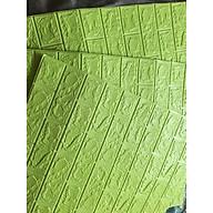 bộ 20 tấm xốp dán tường giả gạch lhv10 mầu xanh cốm 10 thumbnail