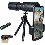 Portable Monocular Telescope Super Telephoto Zoom 10-300X40mm Tripod Clip Night Vision thumbnail