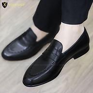 Giày Nam Công Sở chất liệu DA BÒ- ĐẾ PHÍP GỖ- Mã X109 thumbnail