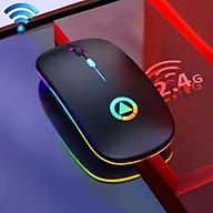 Chuột Sạc Không Dây Wireless 2.4Ghz MX Chống Ồn Có Led Đổi Màu-Hàng Chính Hãng thumbnail