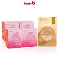 Combo giữ ẩm da sáng mịn InnerB Aqua Rich DoubleUp từ Axit Hyaluronic & 4 hộp nước uống Collagen InnerB Glowshot thumbnail