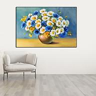 Tranh Canvas Cúc Họa Mi Trang Trí Treo Tường thumbnail