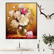 tranh đính đá Bình hoa đẹp - chưa đính thumbnail