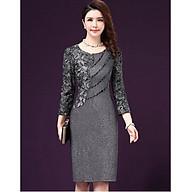 Đầm suông trung niên đẹp kim sa sang trọng quý phái Quảng Châu D331 thumbnail