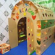 Nhà bìa carton cho bé - Đồ chơi sáng tạo nhà hộp giấy thumbnail